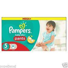 Pampers Mega Plus bebé seco, pantalones talla 5 meses Pack ahorro de 84 Gratis P&P NUEVO