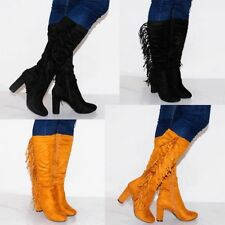 Zip High (3 in. and Up) Heel Suede Boots for Women
