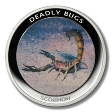 Zambia Deadly Insects Scorpion 1000 Kwacha 2010 Proof Colored Coin