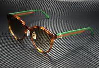 GUCCI GG0416Sk 005 Round Oval Havana Brown 55 mm Women's Sunglasses