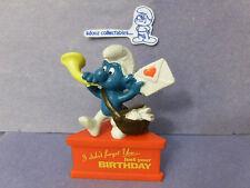 SMURF A GRAM -- Base Stand -- Birthday  Postman  RARE!!