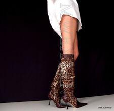 Gianmarco Lorenzi Boots High Heels EU 36 Leopard Italian Womens Shoes