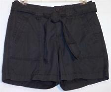 NWT St John's Bay Comfort Waist 100% Cotton Belted Shorts Gray Size 4P