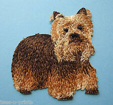 IRON-ON EMBROIDERED PATCH - YORKSHIRE TERRIER - FULL BODY -  DOG