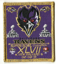 SUPER BOWL XLVII SB 47 CHAMPION RAVENS: SUPER BOWL XLVII CHAMPIONSHIP GAME PATCH