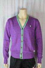 Fenchurch Mens Dewberry/Purple Marl Button Front Cardigan Size Medium (F4)