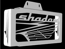 "cache / Grille de radiateur inox poli Honda 125 VT Shadow design ""Wing"""
