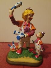 "Danbury Mint 1994 Barnum's Classic Clowns Figurine ""The Juggling Lesson"""