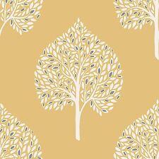 Annabelle ARBRE Papier peint jaune - Fine Decor fd41930 Moutarde Feuille