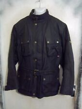 Belstaff North Circular Road Black 10oz Waxed Trialmaster Jacket XL