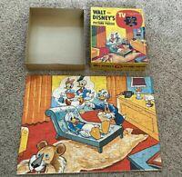 Vintage 1962 Jaymar Walt Disney TV Picture Puzzle Donald w/ Dr Von Drake 100 pc