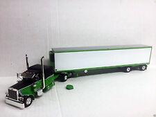 Peterbilt 389 Sleeper with 53' Spread Axle Reefer Van  Color: Black/Lime Green