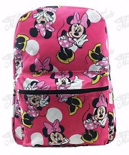 """16"""" Disney Minnie Mouse All Print Girls Large School Backpack Pink"""