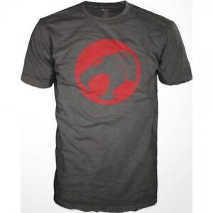 Thundercats Distressed Logo Men's Charcoal T-Shirt