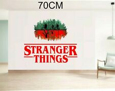 Stranger Things oval logo large text 70cm wide overall wall sticker
