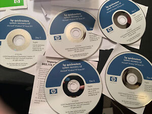 HP Notebook And PC Windows XP Home SP1 QuickRestore System Recovery CDs 2003 1-5