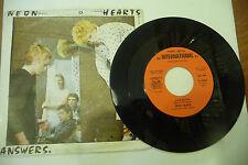 "NEON HEARTS""ANSWERS-disco 45 giri FONIT It 1979"" PUNK Italy"