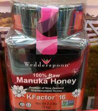 Wedderspoon Manuka Honey 100% Raw New Zealand KFactor16 1kg (35 oz)