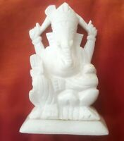Ganesha Statue Marbre Statuette Figurine indienne Fait main Ganesh Hindou H1