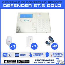 ANTIFURTO CASA CENTRALE WIRELESS COMBINATORE GSM TOUCH DEFENDER ST6 GOLD