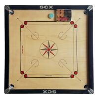 """PRO 33"""" LARGE FULL SIZE CARROM BOARD GAME + COINS & STRIKER BEST QAULITY SCXAG40"""