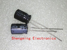 20PCS 1000uF 6.3V 105C Radial Electrolytic Capacitor 8x12mm