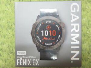 NEW * Garmin FENIX 6X PRO SOLAR GPS Watch * TITANIUM GRAY * 010-02157-20