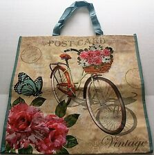 "Reusable Tote Bag POSTCARD / VINTAGE BICYCLE  19"" X 18"" X 7"""