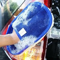 Car Wash Cleaning Glove Microfiber Washing Sponge Brush Pad Auto Tool Cleaner