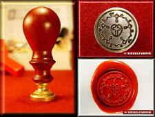 SIEGELSET LUTHERROSE Siegel Petschaft Siegellack Siegelwachs Luther Rose Wappen