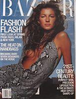 GISELE BUNDCHEN January 2000 HARPER'S BAZAAR Magazine CATHERINE ZETA-JONES