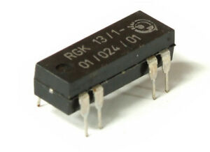 VEB Rgk 13/1-01/024/01 13mm Reed Relay/Contact Reed Relais Dil DIP-14 0.5A 24V