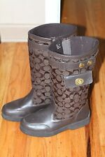 HUGE COACH LADIES BROWN BOOTS / SHOES SIZE 7 ½.