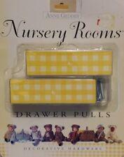 "NEW ANNE GEDDES DECORATIVE HARDWARE NURSERY ROOM Yellow Drawer Pulls 1"" X 4"" 2pc"