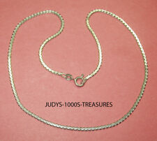 STERLING SILVER CHAIN GREEK KEY 20 INCHES LONG 2mm. WIDE 7.80gr. MADE IN ITALY.