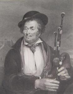 David Wilkie Piper Schottland Edinburgh Dudelsack-Spieler bagpipe Sackpfeifer
