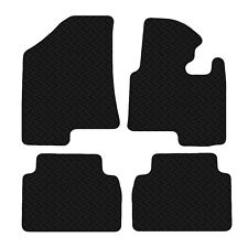 Kia Sportage 2010-2015 Black Floor Rubber Fully Tailored Car Mats 3mm 4pc Set