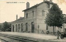 Carte CRECY EN BRIE La Gare