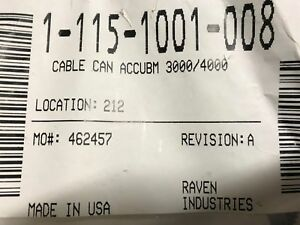 115-1001-008 Raven Cable CAN AccuBoom 3000/4000 Series Coupe