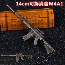 1/6 PUBG BattleField4 Weapon USA ARMY M4A1  Assault Rifle Silencer Metal