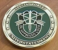 Special Forces Sniper GREEN BERET US Army De Oppresso Liber challenge coin
