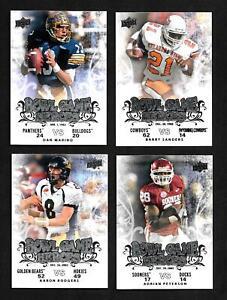 2011 Upper Deck College Football Legends Bowl Game Heroes 25 card Set
