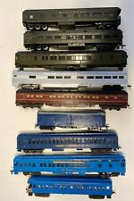 9 HO C&EI, GM&O and Southern Railroad passenger cars mixed grouping  no boxes