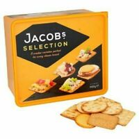 Jacob's Selection 8 Varieties Cracker Biscuits Variety Box for Cheese Tub 900g