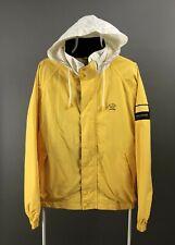 Vintage Paul & Shark Yellow Zip Jacket Coat Hooded Size XL Big Logo Yachting
