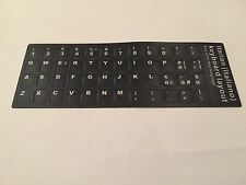 Tastaturaufkleber Tastatur 3M Aufkleber Laptop Notebook Italienisch sw italian