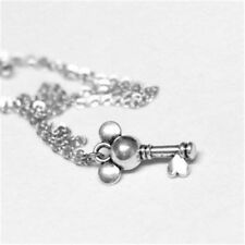 Kingdom Hearts Inspired Keyblade Mouse Key Charm Silver Plated Necklace