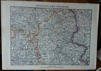 A vintage map of Stafford and environs.