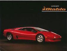 Lamborghini Diablo 5.7 1990 Original USA Market Leaflet Brochure