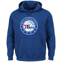 Philadelphia 76ers Pullover Primary Logo Royal Hoodie Men's L - 3XL NBA